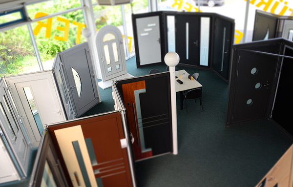 showroom kunststoff fenster aluminium haust ren. Black Bedroom Furniture Sets. Home Design Ideas